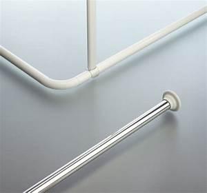 Duschvorhang U Form : spirella decor universal duschvorhangstange clevershower ~ Sanjose-hotels-ca.com Haus und Dekorationen