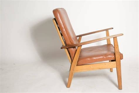 Leather Cigar Chair Attributed To Hans J. Wegner For Sale Battenburg Lace Curtains Panels Curtain Track Carriers Wedding Light Holdbacks Flax Wood Rod Holder 108 Inch Long Best Air