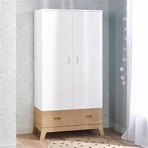 Armoire De Bébé : armoire 2 portes b b junior provence archipel blanc ~ Melissatoandfro.com Idées de Décoration