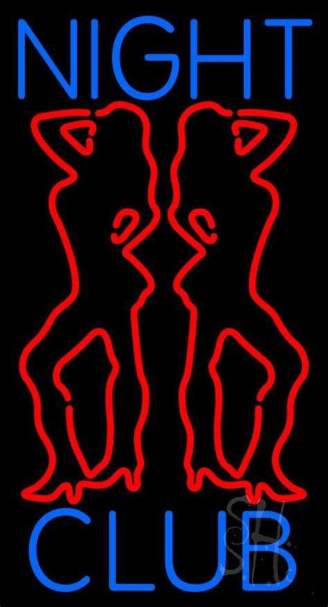 red night club girls neon sign strip club neon signs