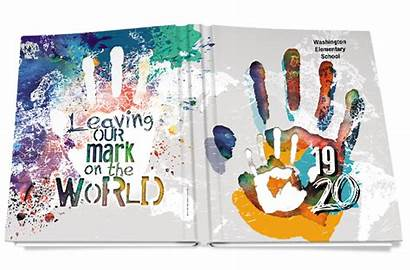 Covers Yearbook Leaving Mark Elementary Themes Designs