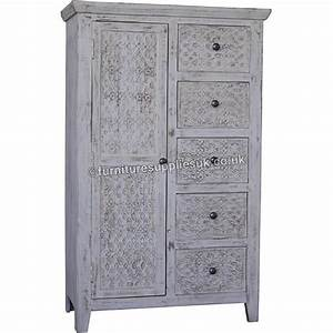 Mandakini Small Almirah Mango Wood Furniture Supplies UK