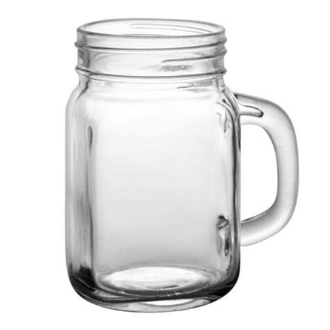 gelas clear mug 12 oz custom barconic jar with handle