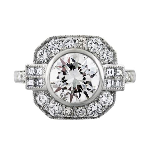 engagement rings deco style platinum deco style 2 34 carat engagement ring boca raton