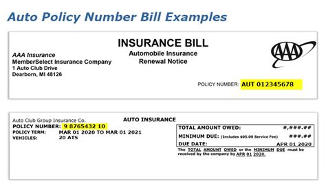 Find Your Auto Insurance Policy Number