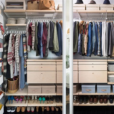 The Closet Shop by White Birch Elfa D 233 Cor Closet The Container Store
