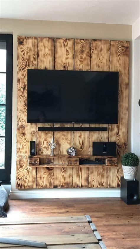idees creatives de meuble tv en palette