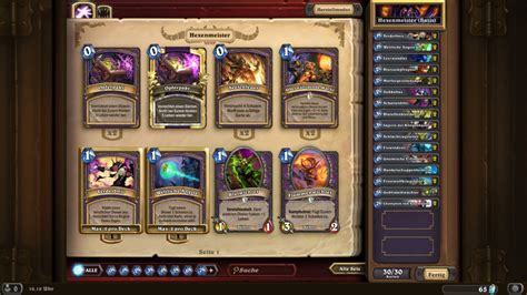 Hearthstone Hexenmeister Deck  Home Image Ideen