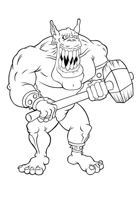 Gizmo Kleurplaat by Trolls Are Scary Trolls And Giants Coloring Pages