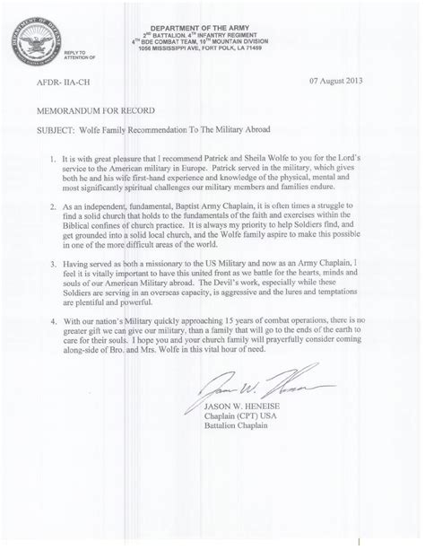 army officer letter  recommendation air
