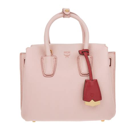 mcm luxury mcm milla tote mini pink beetrot in rosa fashionette