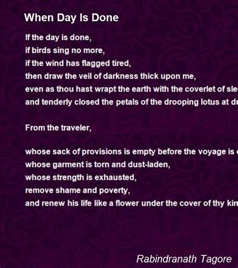day   poem  rabindranath tagore poem hunter