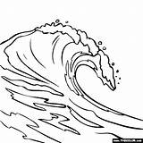 Wave Clipart Braking Clipground Breaking Coloring sketch template