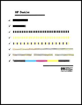 hp deskjet  series printer   print  test page