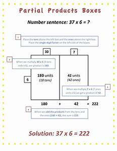 7 Best Partial Products Multiplication Images On Pinterest