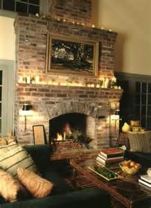 French Country Brick Fireplace