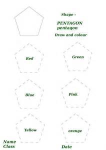 Pentagon Shape Worksheets for Preschoolers