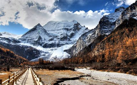 Mountains Background Wallpaper Snow Mountains Wallpapers