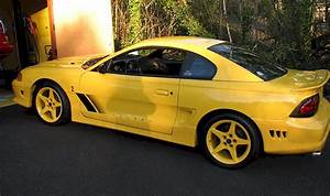 Chrome Yellow 1998 Saleen S281 Cobra Ford Mustang Coupe
