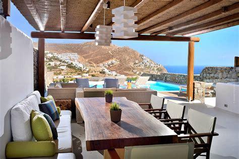 greek mediterranean style villa  mykonos  modern