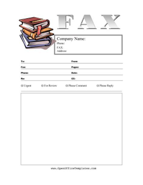 books fax cover sheet