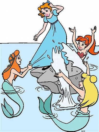 Wendy Clip Mermaids Michael Pan Peter Disney