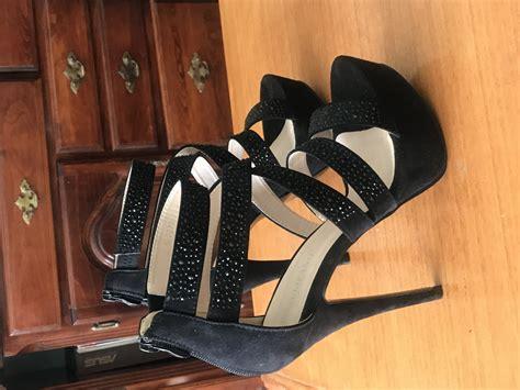 Crne sandale na visoku stiklu (76772687) - Limundo.com
