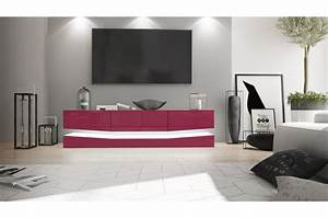 Meuble Tv Lumineux : meuble tv suspendu lumineux pour salon ~ Teatrodelosmanantiales.com Idées de Décoration