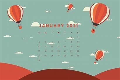 Calendar January Wallpapers Printable Desktop Month Monthly