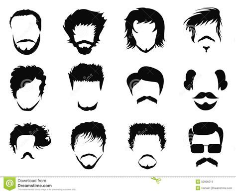 Man hairstyle vector stock vector. Illustration of curly