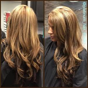 Blonde highlights, with golden mahogany brown lowlights ...