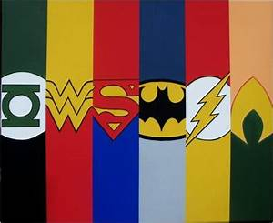 And Justice League Super Heroes Symbols
