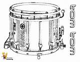 Musical Coloring Drums Tom Drum Instruments Snare Percussion Instrument Yescoloring Majestic Boys Kits sketch template