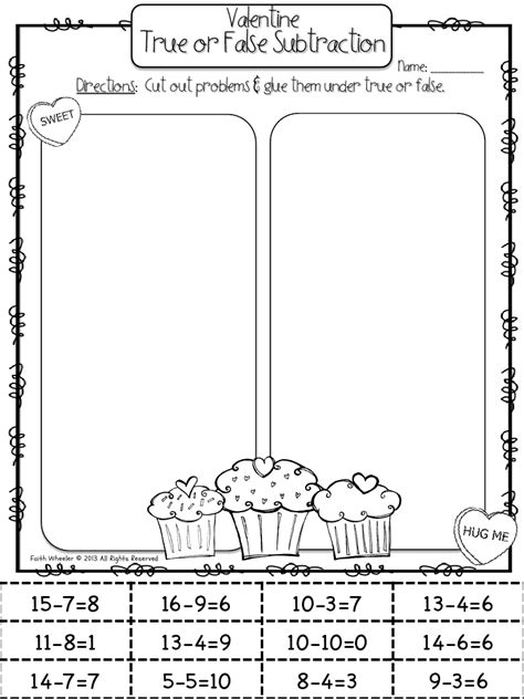 valentines day true  false subtraction  images