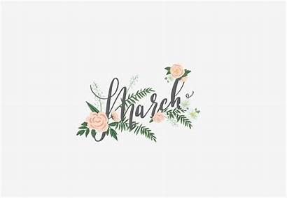 March Spring Flowers Month Hello Desktop Wallpapers