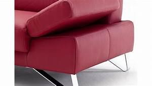 3 Sitzer Leder : sofa 3 sitzer finest in leder kaminrot mit funktionen ~ Indierocktalk.com Haus und Dekorationen