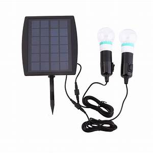 outdoor solar power led lighting 2 bulb lamp system solar With convert outdoor lights to solar