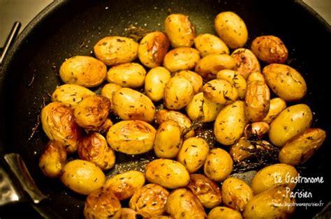 pommes de terre grenaille au thym recette de pommes de