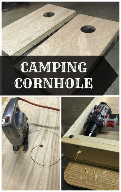portable cornhole board set  camping