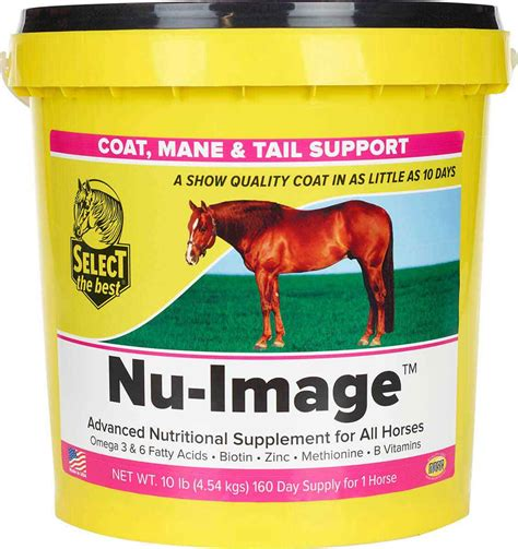 horses nu coat mane tail supplements equine support select skin lb days
