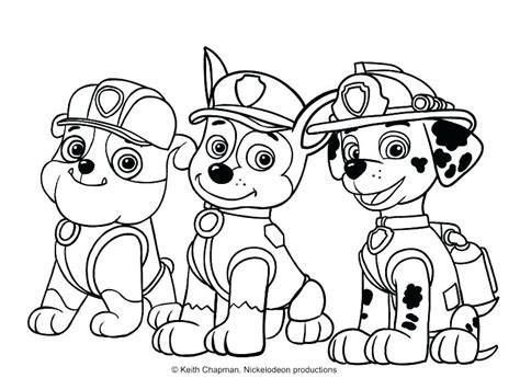 Paw Patrol Coloring Pages For Kids at GetColorings com