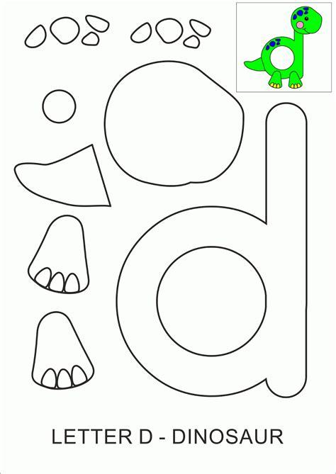 printable letter  crafts dinosaur  images letter