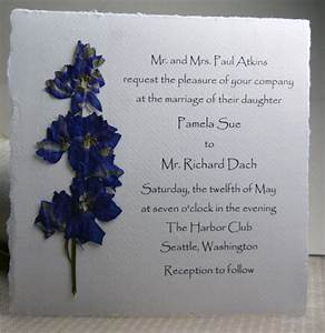 pressed flower invitations square handmade paper with real With wedding invitations with dried flowers