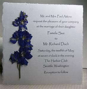 pressed flower invitations square handmade paper with real With handmade wedding invitations with flowers