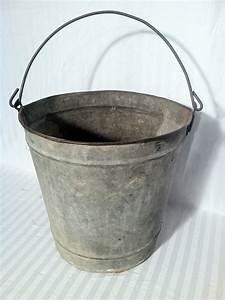 Vintage, Galvanized, Bucket, By, Zassystreasures, On, Etsy