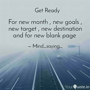 For new month ,... New Targets Quotes