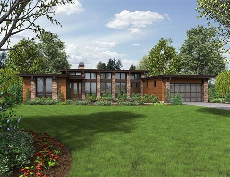 contemporary style house plan  kelso plan