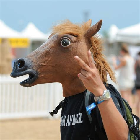 horse head mask cool white elephant gifts