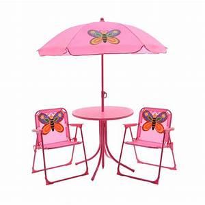 Salon De Jardin Pour Enfant : salon de jardin pour enfant papillon rose mobilier pour enfant eminza ~ Teatrodelosmanantiales.com Idées de Décoration