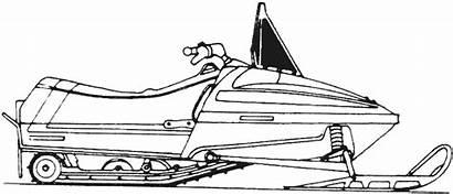Motoneige Polaris Snowmobile Skidoo Dessin Indy Coloring